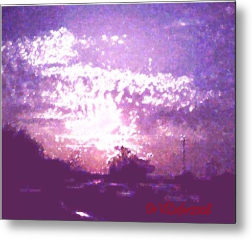 Evening Metal Print featuring the digital art Bright Evening by Dr Loifer Vladimir