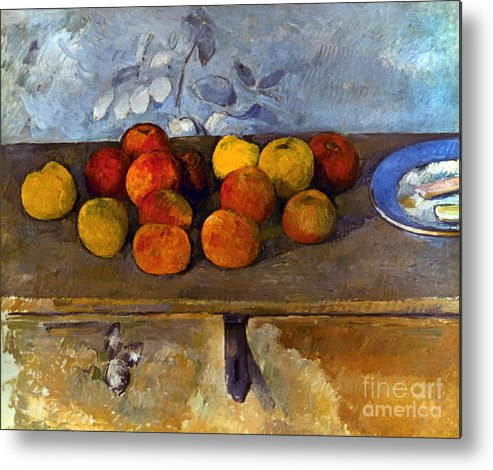 1880 Metal Print featuring the photograph Cezanne: Apples & Biscuits by Granger