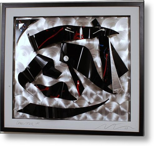 Aluminum Metal Print featuring the sculpture Comic Strip 14 by Mac Worthington