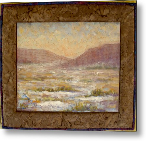 Realism Metal Print featuring the mixed media Desert Winter by Diane and Donelli DiMaria