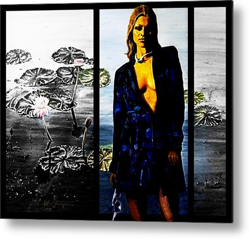 Woman Metal Print featuring the painting Do Not Color Me Gray by Hartmut Jager