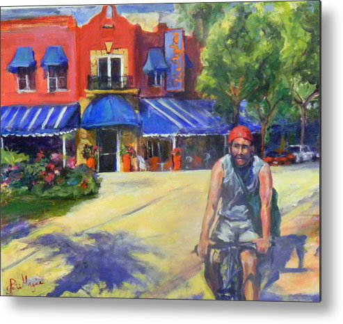 Delray Beach Metal Print featuring the painting Downtown Morning by Patricia Maguire