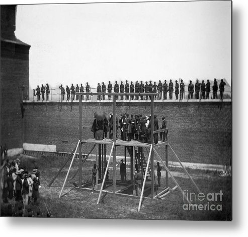 1865 Metal Print featuring the photograph Execution Of Conspirators by Granger