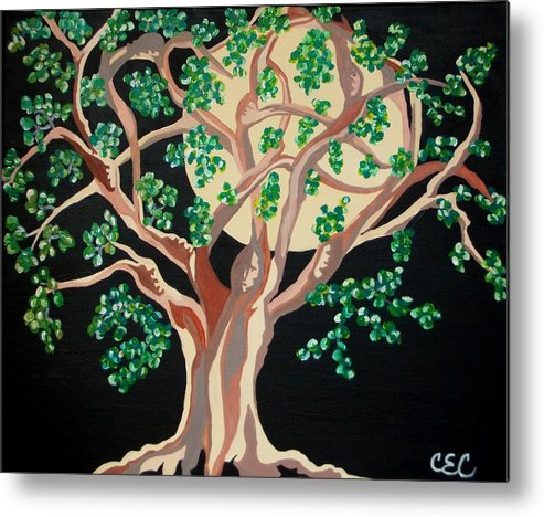 Tree Metal Print featuring the painting Family Tree by Carolyn Cable