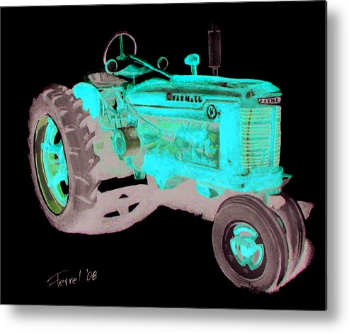 Farmall Metal Print featuring the painting Farmall Tractor by Ferrel Cordle