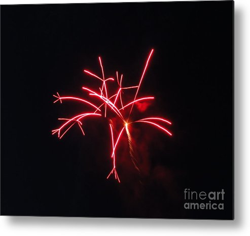 Fireworks Metal Print featuring the photograph Fireworks Twenty Eleven IIi by Daniel Henning