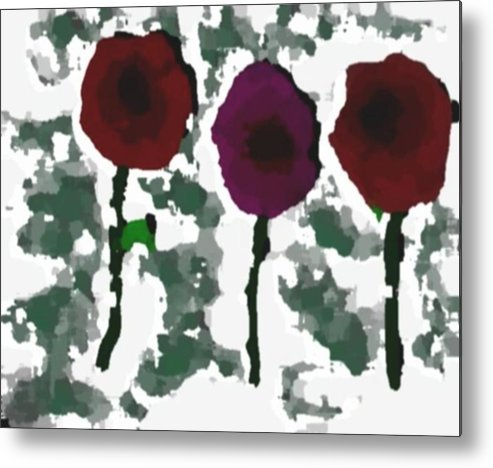 Flowers.love.happiness.gift.senses. Laughter Metal Print featuring the digital art Flowers Of Love by Dr Loifer Vladimir