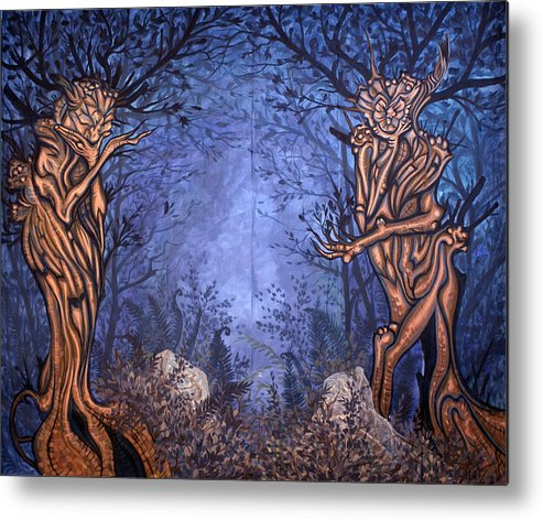 Mystic Metal Print featuring the painting Forest by Judy Henninger
