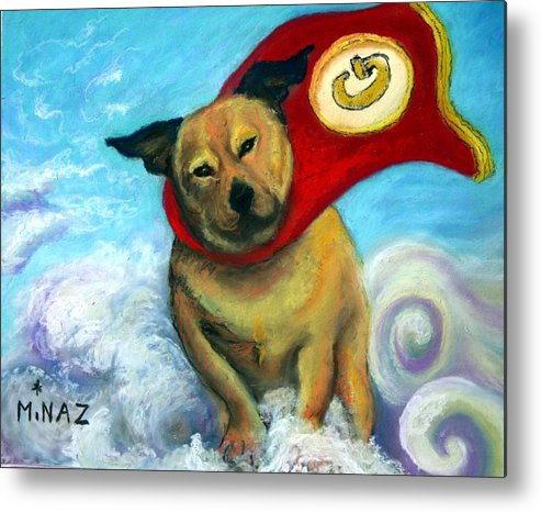 Dog Metal Print featuring the painting Gizmo The Great by Minaz Jantz