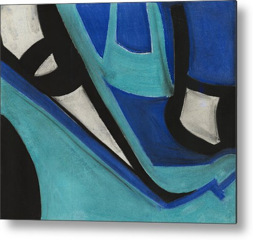 Abstract Metal Print featuring the pastel God's Eye Dyptych 1 by Diallo House
