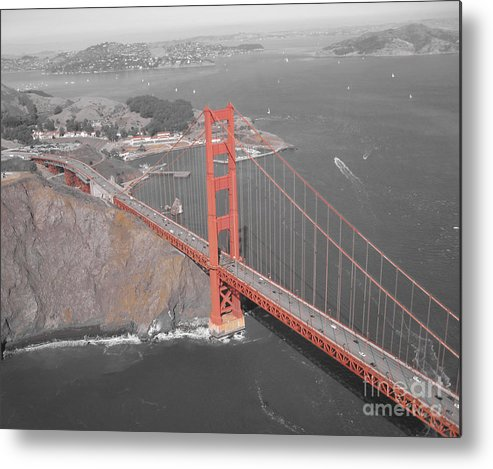 Bridges Metal Print featuring the photograph Golden Gate The Color Of The Bridge by Jerry Patchin