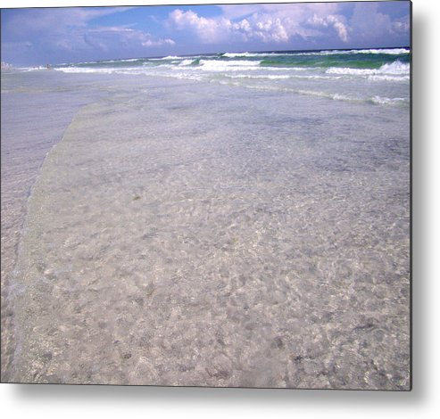 Water Metal Print featuring the photograph Gulf Shore by Nicole I Hamilton