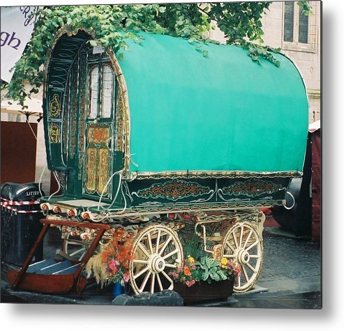 Colorful Metal Print featuring the photograph Gypsy Wagon by Tim Plawinski