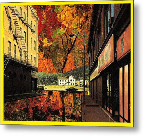 Leaves Metal Print featuring the mixed media Holden Street by Gabe Art Inc