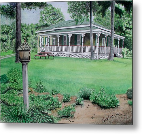House Metal Print featuring the painting House Of David by Ferrel Cordle
