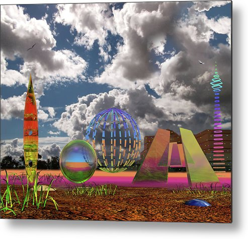 Landscape Metal Print featuring the photograph In Squillf by Mark Blauhoefer