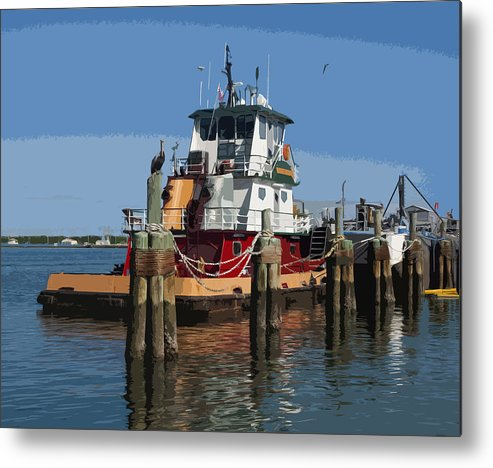 Tug Metal Print featuring the painting Indian River by Allan Hughes