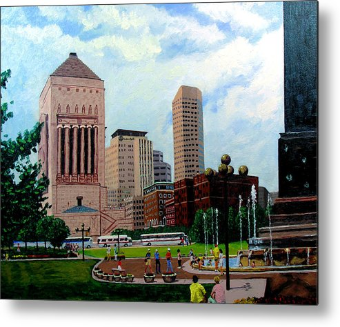 Indianapolis Metal Print featuring the painting Indy Festival by Stan Hamilton