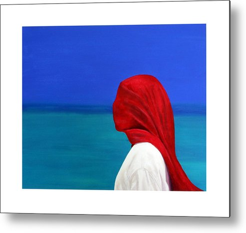 Red Metal Print featuring the painting It Could Be You by Fiona Jack