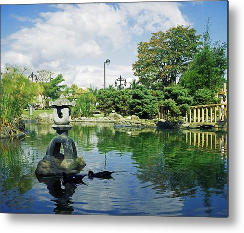 Landscape Metal Print featuring the photograph Japanese Park by Johnny Aguirre