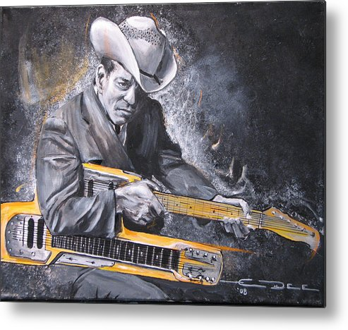 Jr. Brown Metal Print featuring the painting Jr. Brown by Eric Dee