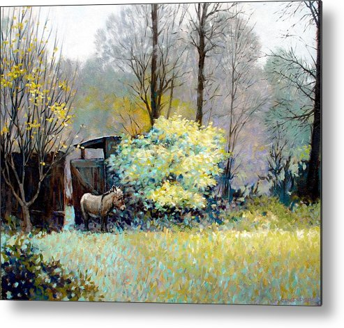 Donkey Metal Print featuring the painting Katrina by Kevin Lawrence Leveque