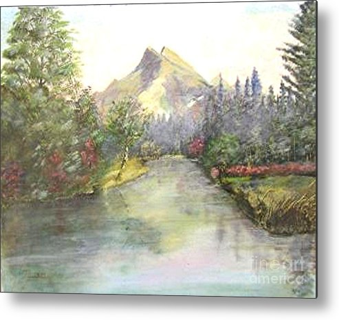 Landscape Painting Metal Print featuring the painting Mt Bundle by Nicholas Minniti