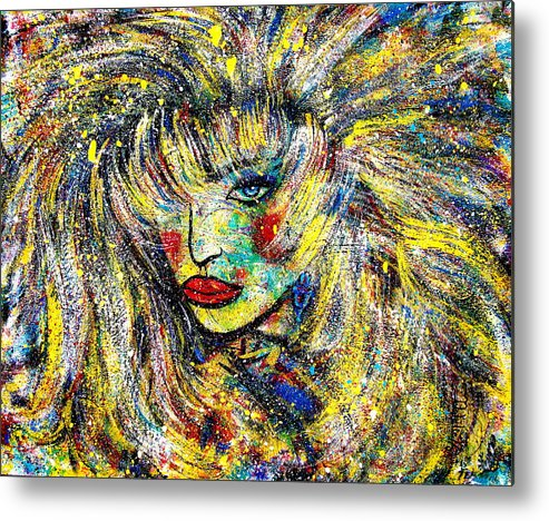Portrait Metal Print featuring the painting Natalya by Natalie Holland