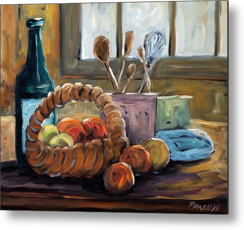 Art Metal Print featuring the painting Nature Morte by Richard T Pranke