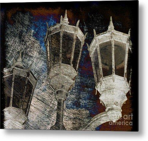Lantern Metal Print featuring the photograph Nostalgic Lanterns by Susanne Van Hulst
