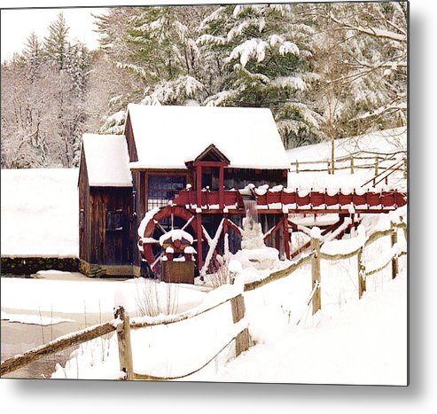 Metal Print featuring the photograph Old Mill In Winter by Roger Soule