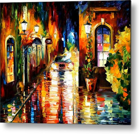 Afremov Metal Print featuring the painting Paying A Visit by Leonid Afremov
