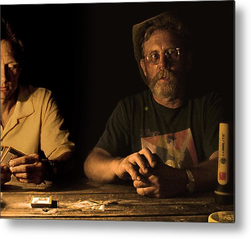 Cards Metal Print featuring the photograph Poker Night by Jeff Burgess