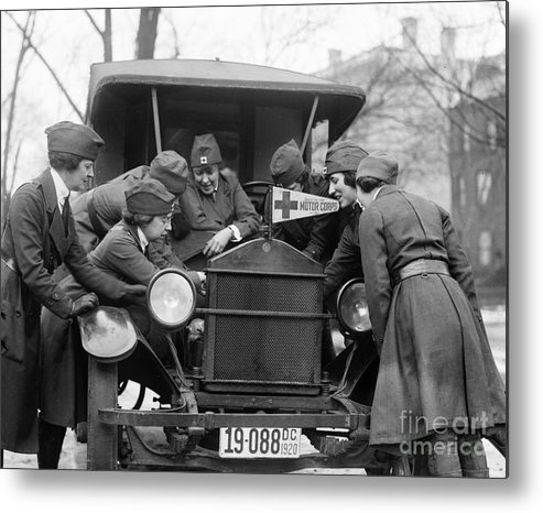 1920 Metal Print featuring the photograph Red Cross, C1920 by Granger