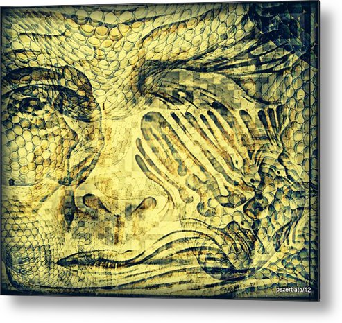 Revealing Thoughts Metal Print featuring the digital art Revealing The Thoughts by Paulo Zerbato