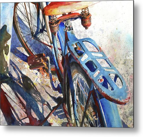 Bicycle Metal Print featuring the painting Roadmaster by Andrew King