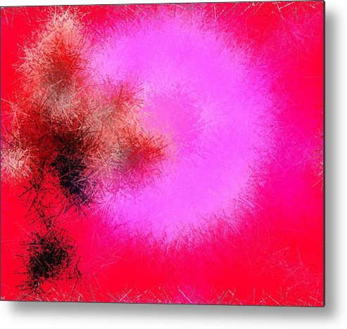 Senses.flower.rose.broken Rose.pins.sun.love.fire Of The Feelings. Metal Print featuring the digital art Roses And Pins by Dr Loifer Vladimir