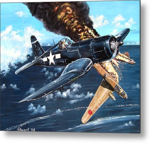 Military Metal Print featuring the painting Scratch One Betty by Marc Stewart