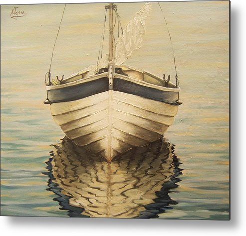 Seascape Metal Print featuring the painting Serenity by Natalia Tejera