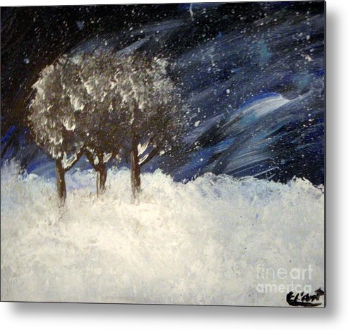Snow Metal Print featuring the painting Snowstorm by Elizabeth Arthur