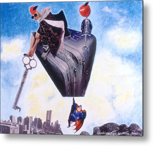 Twin Towers Metal Print featuring the drawing Soap Scene #11 Seek The Love Within by Minaz Jantz