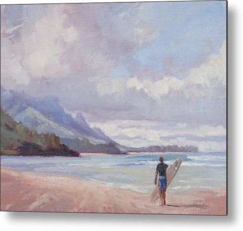 Landscape Metal Print featuring the painting Soul Surfer by Jenifer Prince