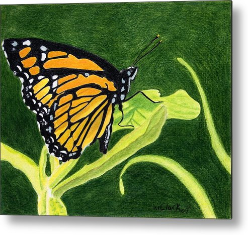 Animals Metal Print featuring the painting Spring Monarch by Wade Clark