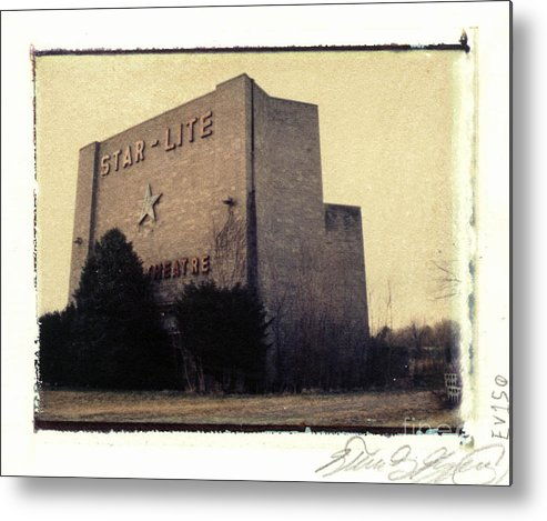 Polaroid Metal Print featuring the photograph Star-lite Drive-in by Steven Godfrey