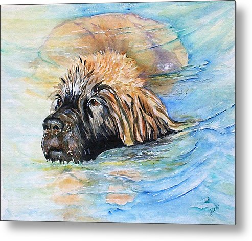 Canine Metal Print featuring the painting Summer Daze by Gina Hall