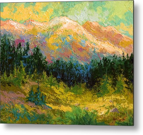 Alaska Metal Print featuring the painting Summer High Country by Marion Rose