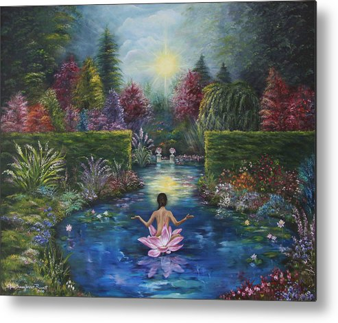 Lotus Metal Print featuring the painting Surrender by Sundara Fawn