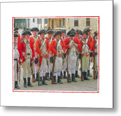 Redcoats Metal Print featuring the photograph The Button by Robert Boyette