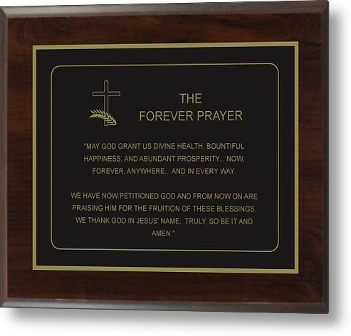 Prayer Metal Print featuring the photograph The Forever Prayer by Karl Hosch