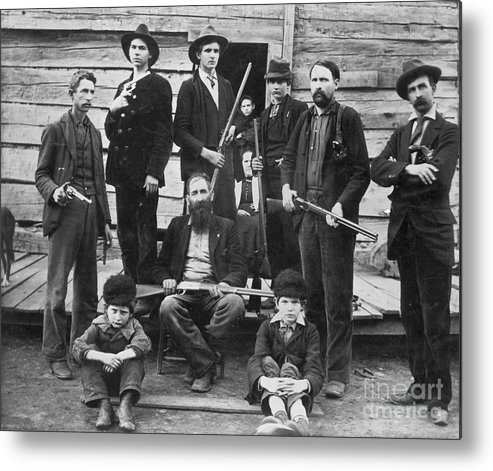 1899 Metal Print featuring the photograph The Hatfields, 1899 - To License For Professional Use Visit Granger.com by Granger